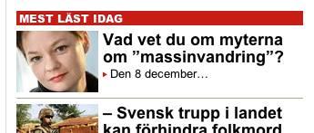 Mest lästa artikeln i Aftonbladet 27 december 2013